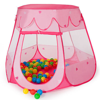 Kids Pop Up Play House Childrens Baby Fairy Tent Ball Pit Fun Indoor Playhouse