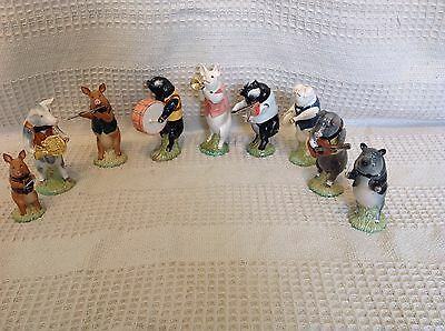 John Beswick Pig Prom Job Lot Of 9 Figurines Boxed With Certificate Of Ownership