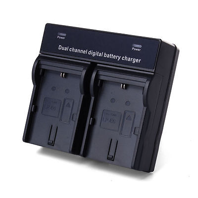 Dual Battery Charger For Canon LP-E6 EOS 5D Mark II III 70D 7D 60D 3D 5D3 BC360