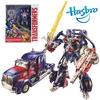 Transformers Age Of Extinction Leader Optimus Prime Trailer Action Figures Toy