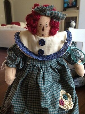 "Vintage Raggedy Ann Doll Unique. & Rare Very Different  13.5"" Springford"