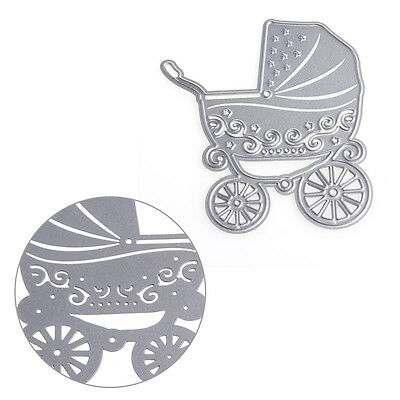 Novelty Baby Carriage Shape Metal Cutting Dies Stencil for DIY Scrapbook Card
