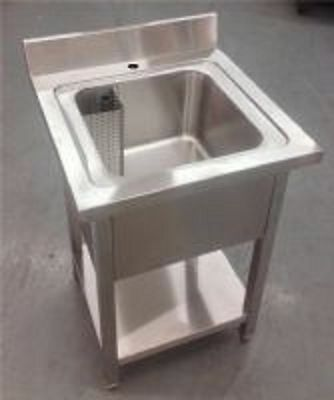 Stainless Steel Single Bowl Sink Commercial Kitchen Restaurant Business 600mm