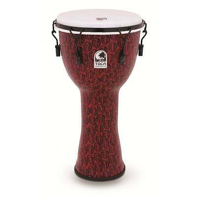 "Toca Freestyle II Bolt Tuned 12"" Djembe - Red Mask Finish"