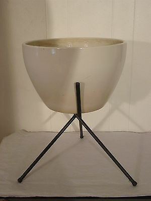 Modern 1950s pot planter and stand mid century architectual
