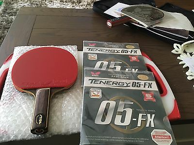 Stiga Stellan Bengtsson Offensive Classic Table Tennis Blade Tenergy 05 FX Rubbe