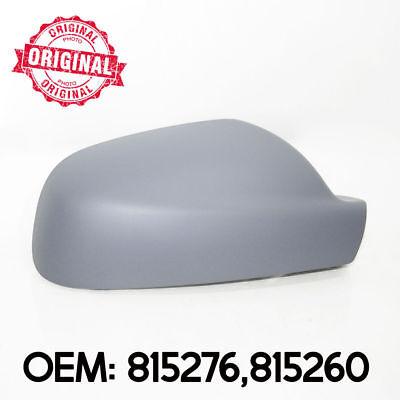 Right Side Wing Mirror Cover Cap Casing Primed For Peugeot 407 2004 - 2008