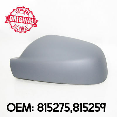 Left Side Wing Mirror Cover Cap Casing Primed For Peugeot 407 2004 - 2008