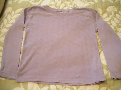 Girls Long Sleeved Thermal Vest Age 5-6 Years Good Condition