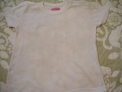 Girls Short Sleeved Thermal Vest Age 5-6 In Good Condition