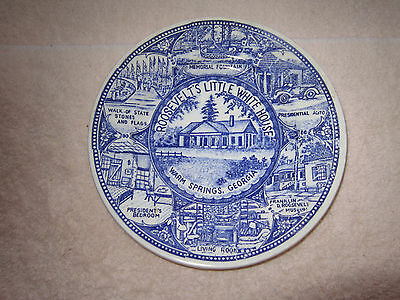 Roosevelt's Little White House, vintage collectors plate
