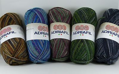 Adriafil Calzasocks Multi 4ply 50g wool/polyamide sock yarn VARIOUS SHADES