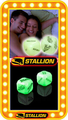Glow in the Dark Love Dice Adult Sex Aid Game Kama Sutra Hen Stag Night Pinata