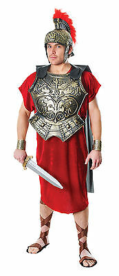 Roman Chest Plate With Cape Adult Black Gold Legion Soldier Fancy Dress