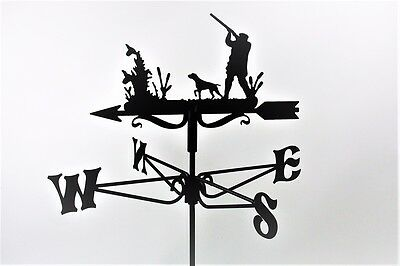 Man with Shotgun Metal Weathervane