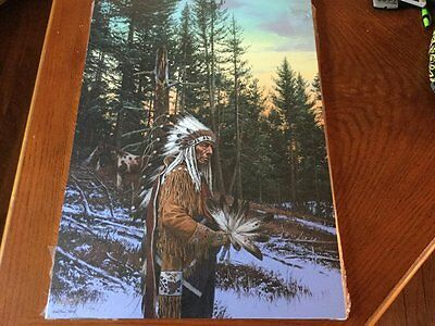"John Paul Strain ""Thoughts of the Great Spirit"" Studio Canvas Giclee MINTW/COA"