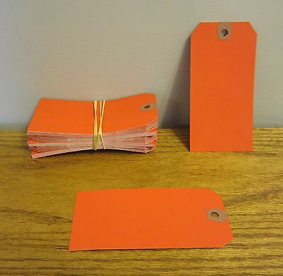 100 Avery Dennison Red Colored Shipping Tags Inventory Control Scrapbook Id Tag