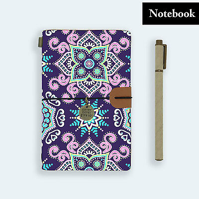 Genuine Leather Journal Travel Diary Travelers Notebook Size Aztec Tribal