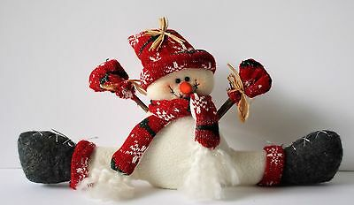 Plush SNOWMAN Figure in Red Scarf and Hat NEW IN PACKAGE