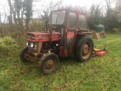 Massey Ferguson 135 2WD Tractor Vintage Classic Turf Grass Tyres