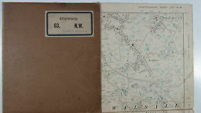 1903 OS Ordnance Survey 2nd Edition six-inch map Stafford 63 NW - Bentley