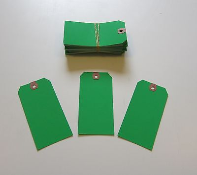 200  Avery Dennison Green Colored Shipping Tags Inventory Control Scrapbook  Tag