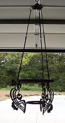 Victorian Wrought Iron Gas Light Chandelier