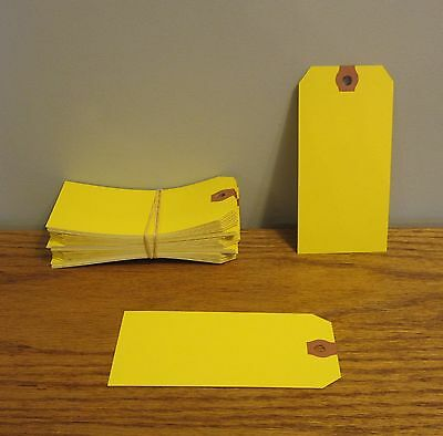 25 Avery Dennison Yellow Colored Shipping Tags Inventory Control Scrapbook  Tag