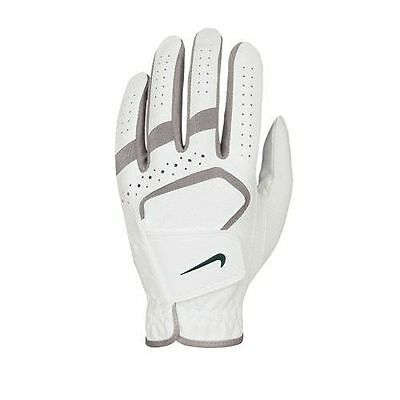 Nike Womens DuraFeel Golf Glove White with Grey Accents SMALL LEFT HAND worn