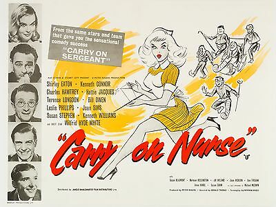 """Carry on Nurse 1959 16"""" x 12"""" Reproduction Movie Poster Photograph 2"""