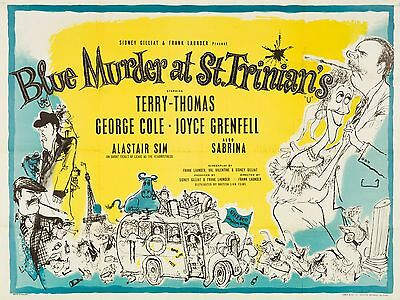 """Blue Murder at St Trinians 16"""" x 12"""" Reproduction Movie Poster Photograph 3"""