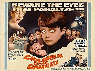 """Children of the Damned 16"""" x 12"""" Reproduction Film Poster Photograph"""