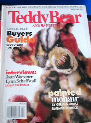 TEDDY BEAR AND FRIENDS~February 1996 Magazine~Buyers Guide~Painted Mohair