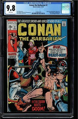 Conan The Barbarian #2 Cgc 9.8 White Pages Cgc  #1338632002