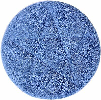 "ALL STAR - 17"" Blue Microfiber Carpet Bonnets - 6 Pack"