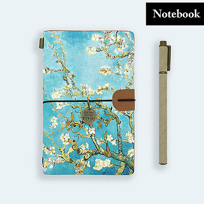 Genuine Leather Journal Travel Diary Travelers Notebook Size Almond Blossom