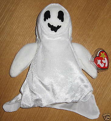 a56977b36aa RARE TY BEANIE Babies Sheets the Ghost - retired -  10.50