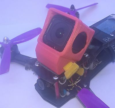GoPro Session quadcopter mount /case Flexible 3D printed high angle
