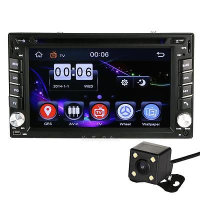 "2DIN 6.2""Car GPS Navi Bluetooth Stereo FM TV Radio DVD MP3 Touch Player + Camera"