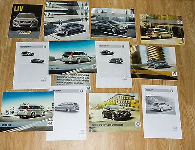 Lot of Volvo Car Brochures - S80 S70 V50 V70 V60 Sportswagon