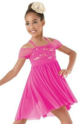Ice skating dress Competition Figure Skating Baton Twirling Costume PINK PURPLE