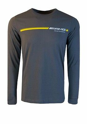 Oem Genuine Mercedes Benz Men's Amg Stripe Long-Sleeve T-Shirt