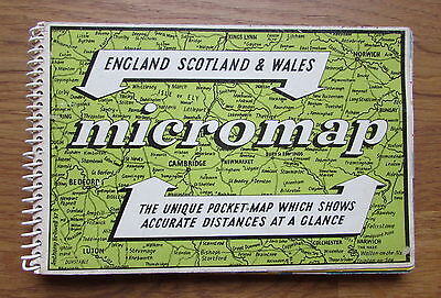 Vintage Sliding Pocket Micromap of Great Britain - Collectable Map - Spiralbound