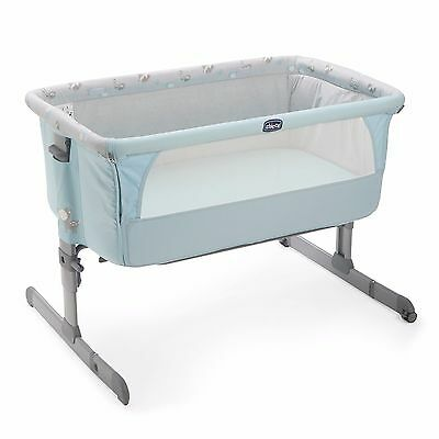 Chicco Next 2 Me 2017 Side Sleeping Crib  SKY Baby Crib BRAND NEW FAST DELIVERY