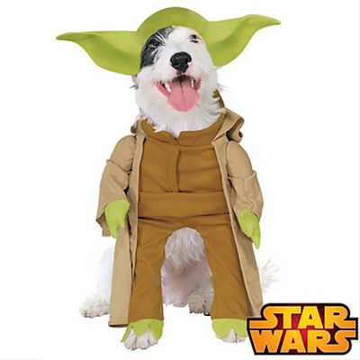 New Official Star Wars Yoda Dog Pet Costume Dress Up Christmas Novelty Outfit
