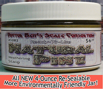Natural Pine Weathering Stain-4oz Doctor Ben's Scale Consortium oss02