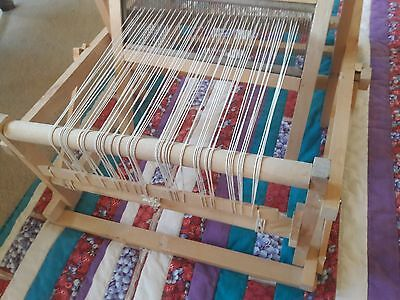 """Vintage Wooden Swedish Loom With Original Instructions 8"""""""