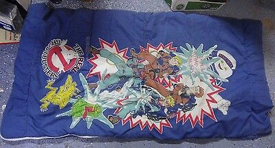 X^c Vintage The Real GHOSTBUSTERS Sleeping Bag Stay Puft Retro 80s Animated