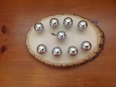 172 Vintage Retro Round Knobs Silver/ Nickel Tone. 9 Available For Each