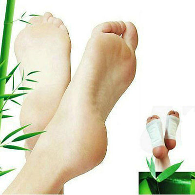 100x Cleansing Detox Foot Pads Patch Herbal Toxins Adhesive Health Care